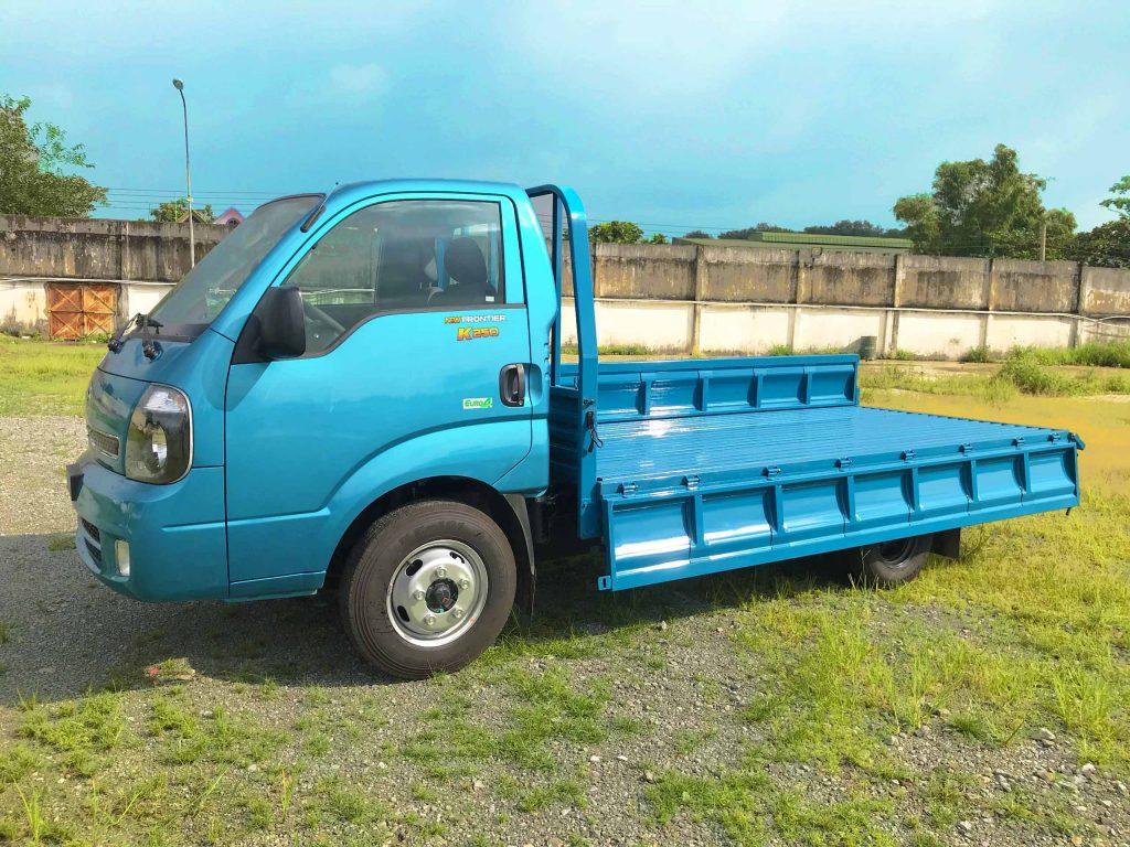 xe tải nhẹ thaco kia k250 thùng lửng màu xanh dương