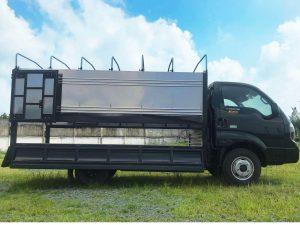 xe tải thaco kia k250 thùng mui bạt xanh rêu