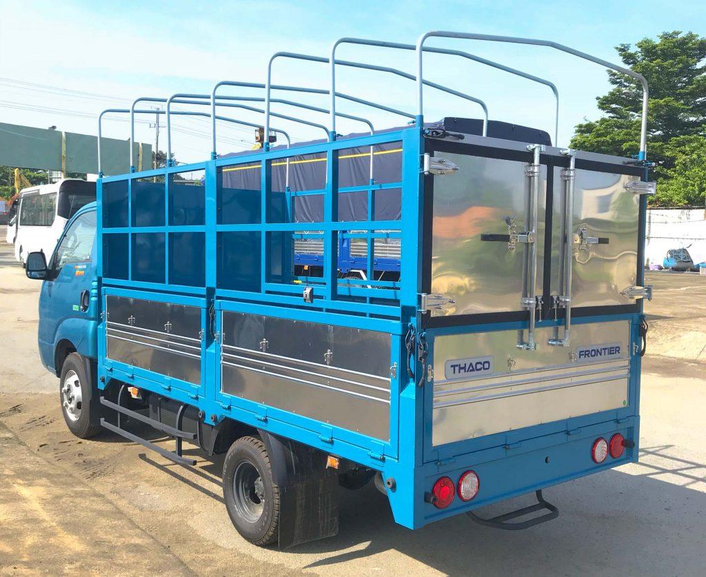 xe tải nhẹ thaco kia k250 thùng mui bạt mở 5 bửng màu xanh dương
