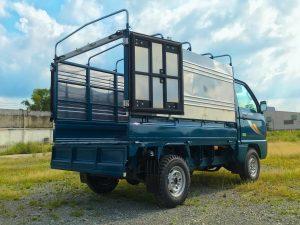 xe tải nhỏ thaco towner 800 thùng mui bạt màu xanh dương