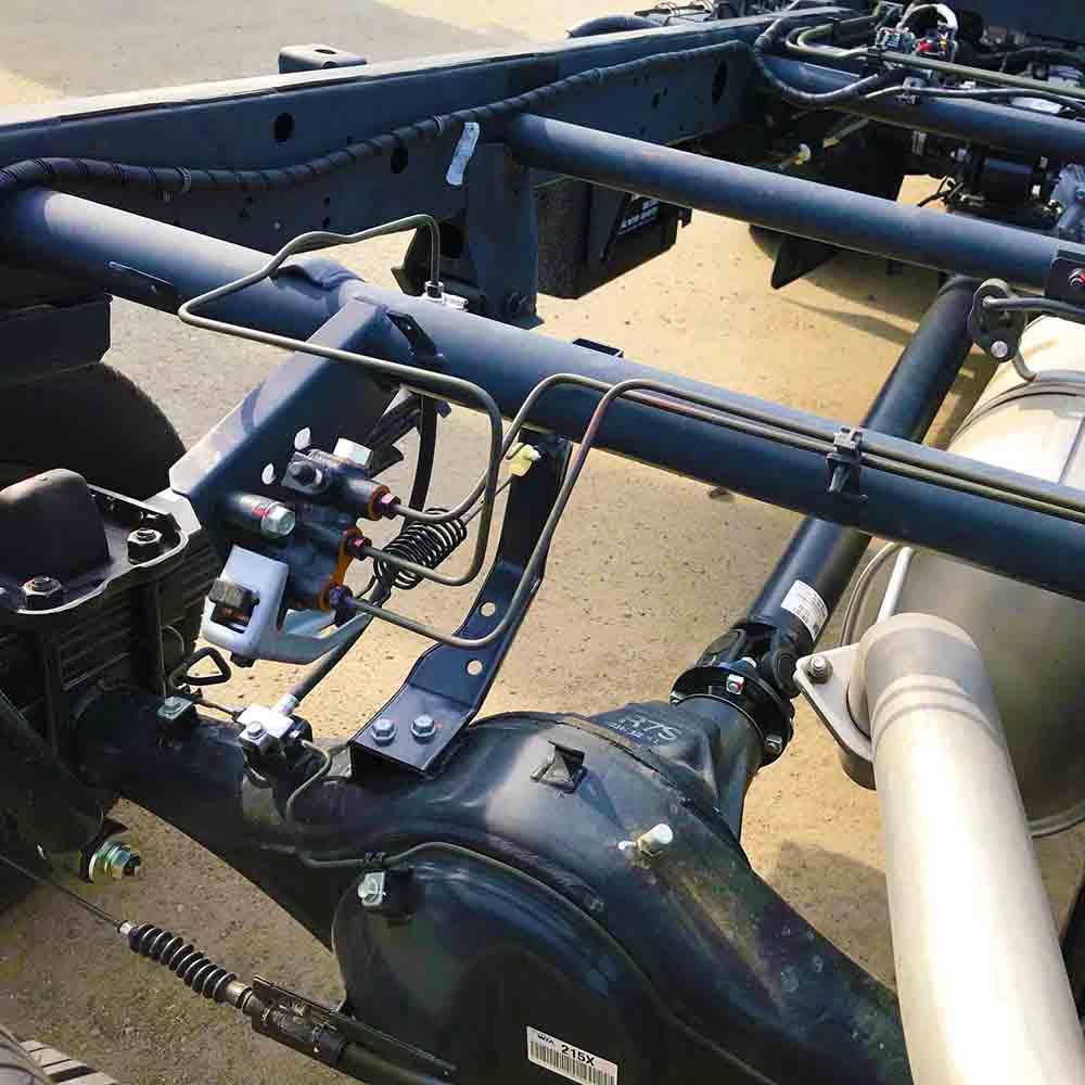 Chassis xe tải nhẹ Thaco Kia K200 dạng sắt hộp cứng vững