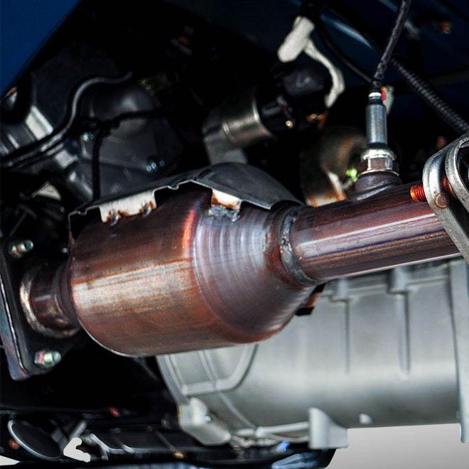 bộ xúc tác khí thải của xe tải nhẹ thaco towner 800
