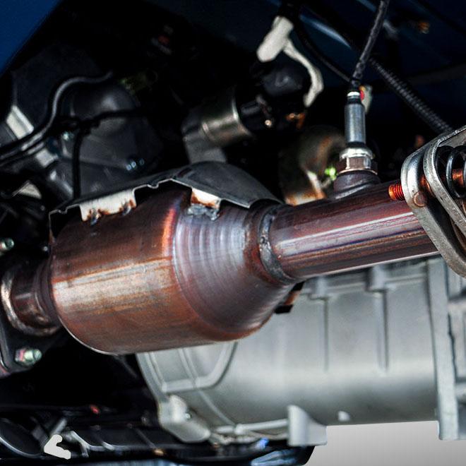 bộ xúc tác khí thải xe tải nhỏ thaco towner 990