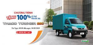 chương trình khuyễn mãi lệ phí trước bại xe tải thaco towner 990
