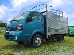 xe tải thaco kia k250 thùng mui bạt mới xanh dương