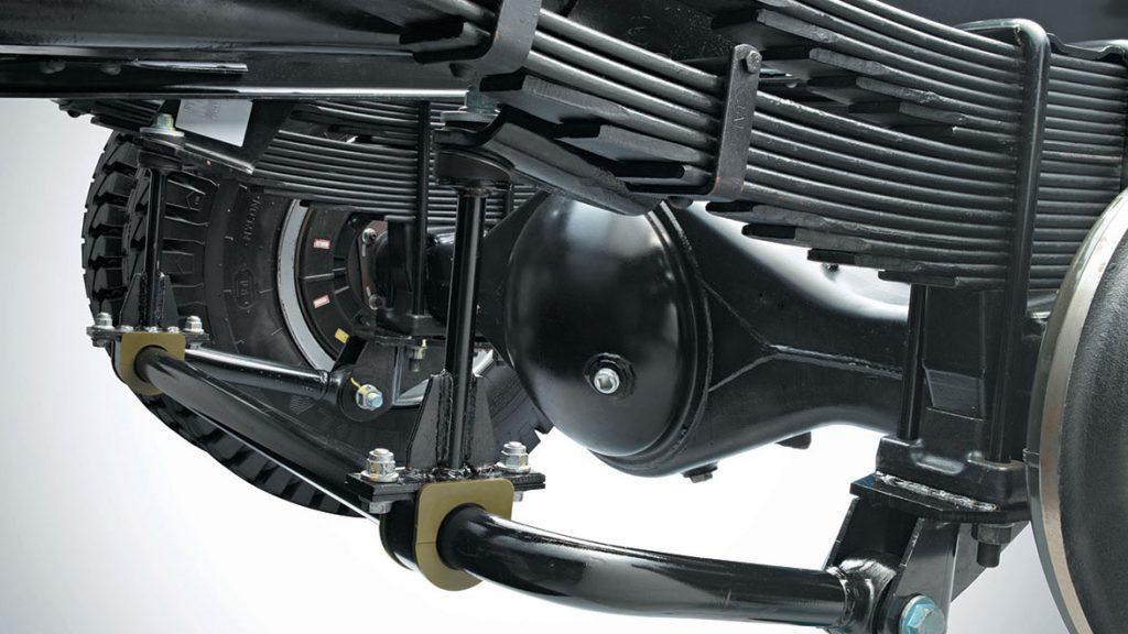 Hệ thống treo cầu sau xe tải Mitsubishi Fuso Canter 10.4