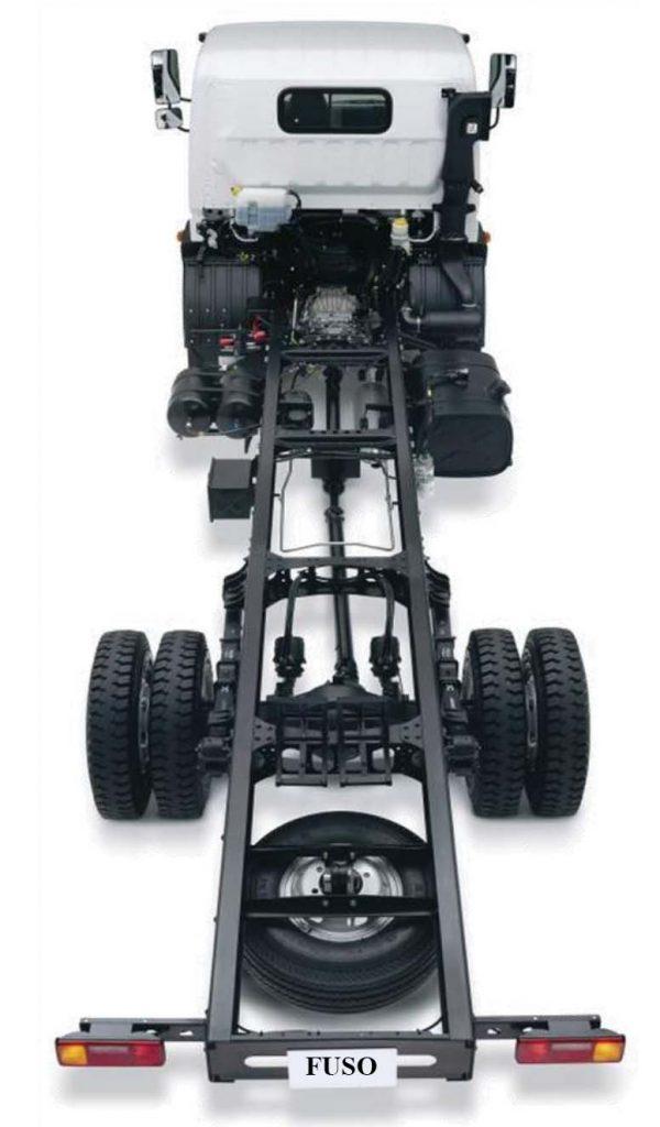 Chassis xe tải mitsubishi fuso canter 12.8