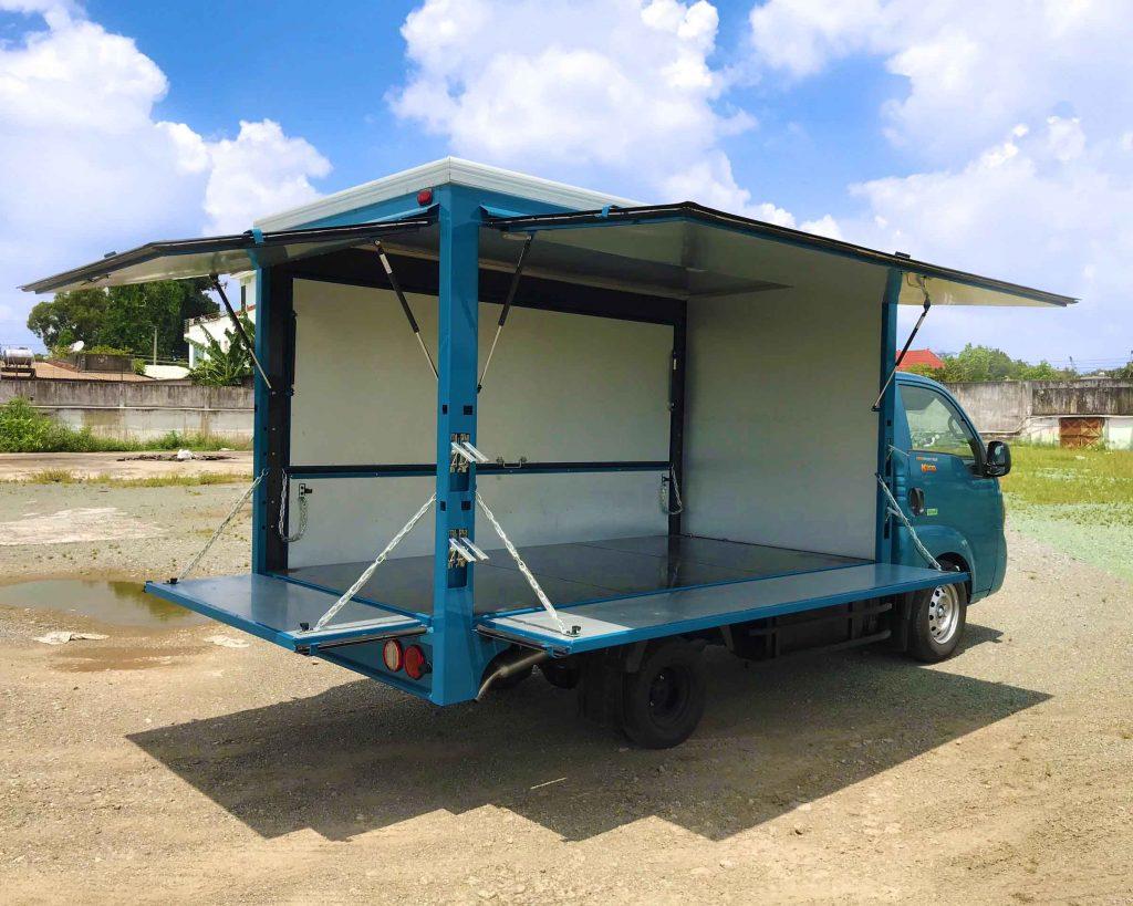 xe tải thaco kia k200 thùng kín cánh dơi