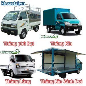 Các loại thùng xe tải thaco