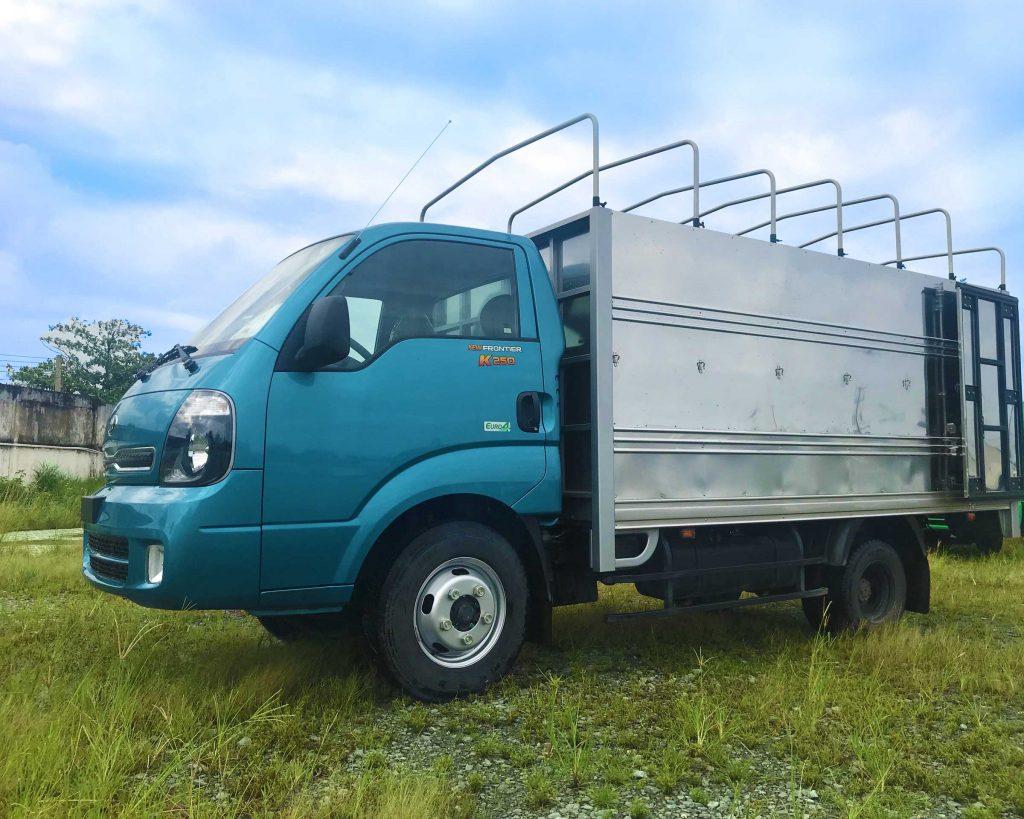 xe tải kia k250 thùng mui bạt mới