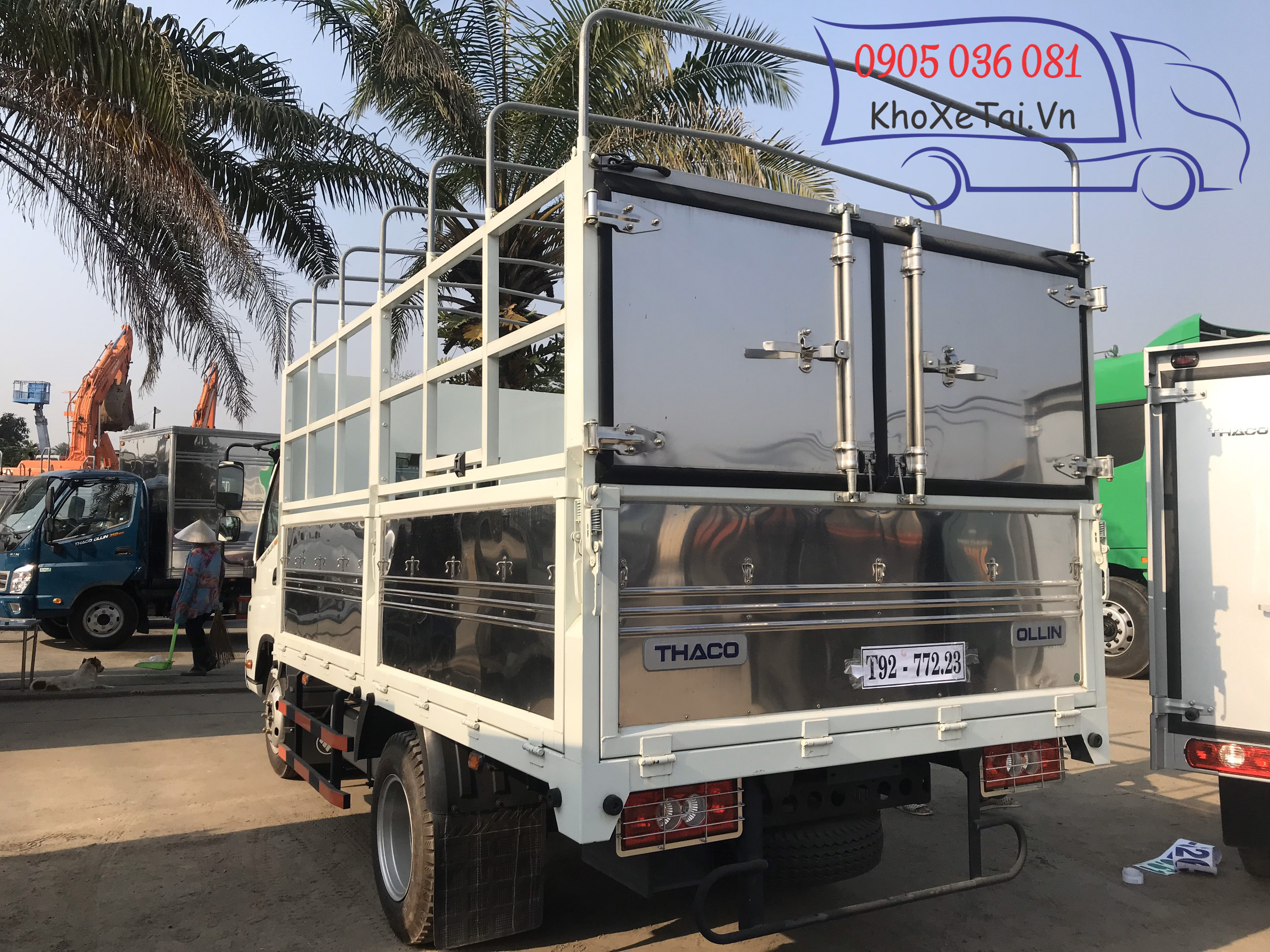xe thaco ollin 345 thùng mui bạt
