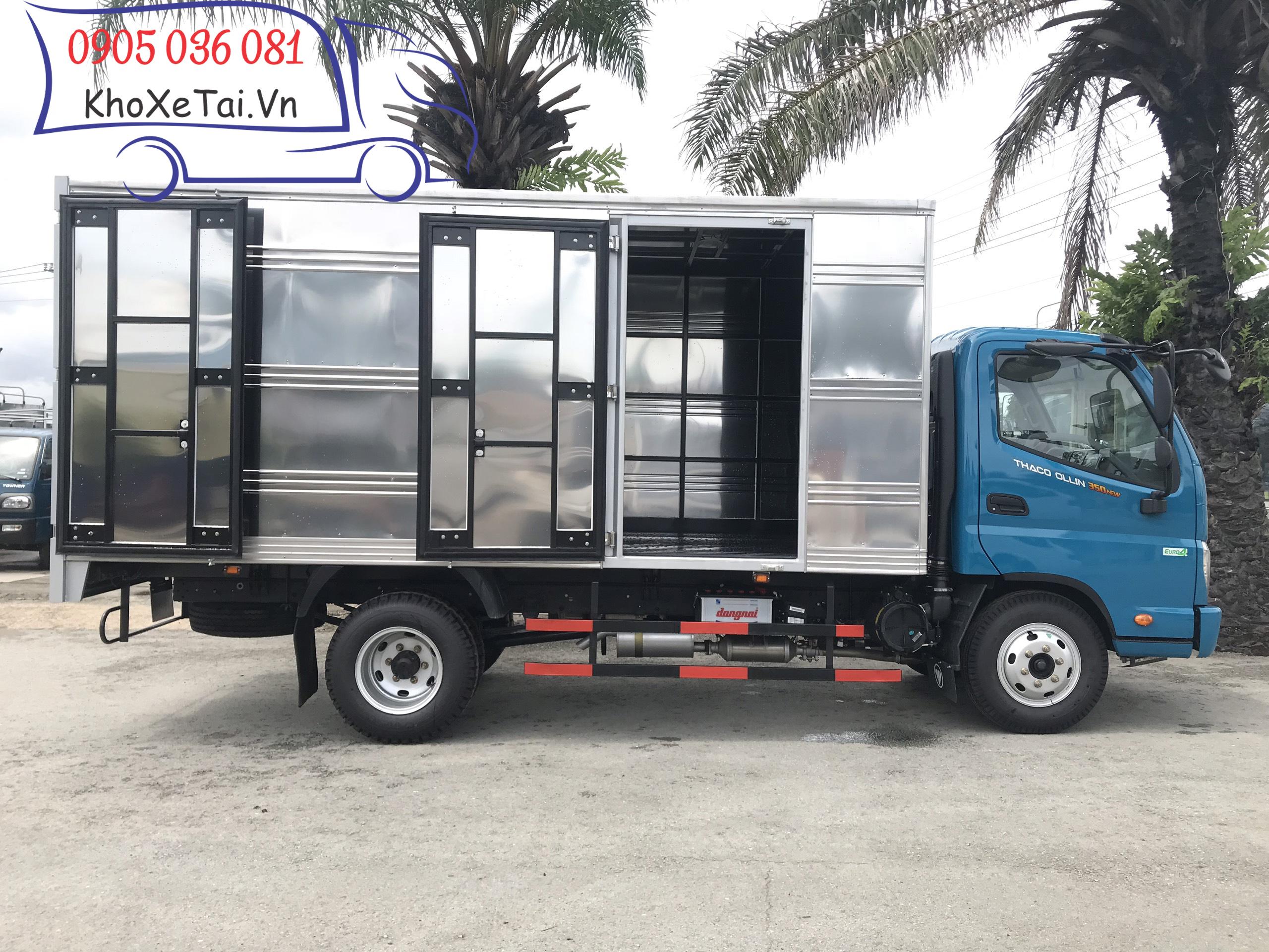 xe tải thaco ollin 350 e4 thùng kín 3,5 tấn