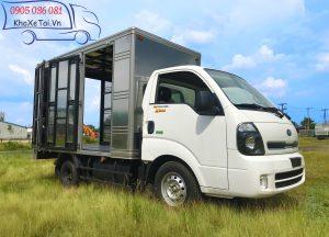 xe tải thaco kia k200 thùng kín màu trắng