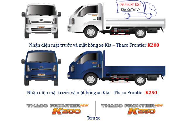 nhận diện xe tải nhỏ K200