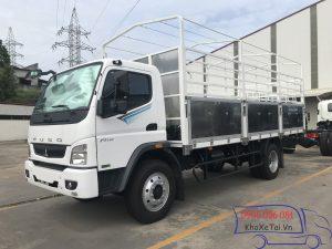 xe tải fuso fi170 thung mui bạt 8 tan màu trắng